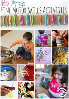20 {No-Prep} Fine Motor Skills Activities