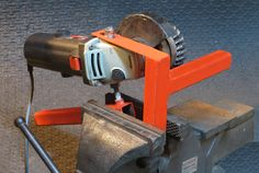 vice mounted hand held grinder - Google Search