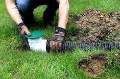 Gutter Drainage, Yard Drainage, Landscape Drainage, Backyard Landscaping, Landscaping Ideas, Replant, Pop Up, Downspout Ideas, Blog