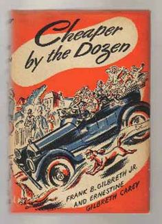 """""""Cheaper by the Dozen""""  (1948) Dad was Frank B. Gilbreth, and mother was Lillian Moller Gilbreth, both industrial engineers and pioneers in the field of time management. With twelve children,  the Gilbreths amaze their neighbors and flabbergast their teachers....."""