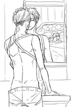 Eren x Levi Badass As Hell OMG LEVI'S LOOK IN THE MIRROR <3 <3