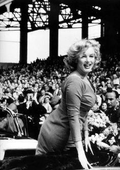 Marilyn at Ebbets Field Stadium, New York, May 12th 1957.
