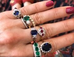 #Colored #Gemstone #Sapphires #Emeralds #Ruby #Rings #Fine #Jewelery #Engagement #White #Yellow #Gold #Platinum #I #Do #Galway #West #Of #Ireland #The #Antiques #Room Ruby Rings, Diamond Rings, Gemstone Rings, My Engagement Ring, Gold Platinum, Emeralds, Vintage Diamond, Gemstone Colors, Unique Vintage
