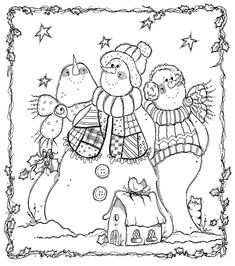 Snowmen by Patricia Parcks Coloring Pages Winter, Colouring Pics, Christmas Coloring Pages, Coloring Book Pages, Snowman Quilt, Christmas Drawing, Snowman Crafts, Christmas Embroidery, Applique Patterns