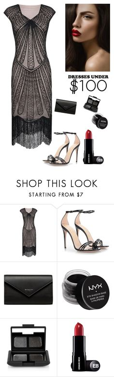 """""""Formal Dresses under $100"""" by kotnourka ❤ liked on Polyvore featuring Gucci, Balenciaga, NYX and NARS Cosmetics"""