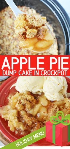 Apple Dump Cake Apple Dump Cake,Food: Apple Recipes Apple Dump cake is an easy, delicious, and holiday favorite slow cooker cake that requires nothing more than a dump and go! With apple pie filling. Slow Cooker Desserts, Crockpot Deserts, Slow Cooker Cake, Crockpot Dessert Recipes, Slow Cooker Apples, Crock Pot Slow Cooker, Crock Pot Cooking, Apple Recipes, Cooking Recipes