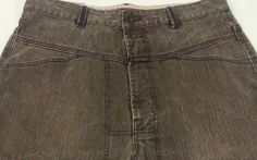 Marithe Francois Girbaud Brown Denim Jeans 34x32 Urban Loose Fit Baggy Wide with Stash Pocket