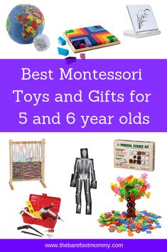 These toys and gifts extend your child's Montessori learning beyond the classroom! Click through for our full list of our family's favorite educational toys, games, books, and more for Montessori 5 and 6 year olds. Activities For 6 Year Olds, Toddler Activities, 6 Year Old Toys, Diy Toys For 5 Year Olds, Diy Montessori Toys, Montessori Toddler, Best Educational Toys, Science Kits, Learning Toys