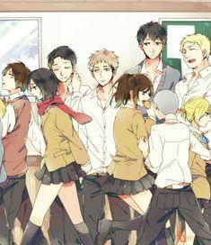 65 Ideas funny anime scenes attack on titan Armin, Mikasa, Manga Anime, Art Anime, Attack On Titan Funny, Attack On Titan Fanart, Akira, Eremika, Levi Ackerman