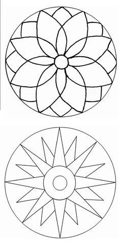 Simple Mandala Art Pattern And Designs – All Image New Mandala Art, Mandala Painting, Mandala Pattern, Dot Painting, Mandala Design, Pattern Art, Stained Glass Patterns, Mosaic Patterns, Glass Painting Patterns
