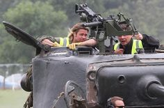 Brad Pitt Learns How To Drive A Tank - http://www.yoodot.com/3056/brad-pitt-learns-how-to-drive-a-tank/