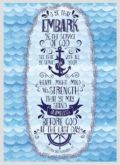 5x7 Embark in the Service of God by BentonFamilyDesign on Etsy
