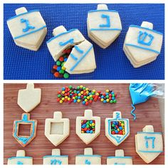 Cool Chanukah party, cookie idea.