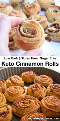 These Keto cinnamon rolls are fluffy, soft and absolutely delicious. Even better, they are gluten free, sugar free and come in at only net carbs per roll! Perfect for a leisurely Sunday breakfast or as an afternoon sweet treat. Recipe for sugar free c Low Carb Breakfast, Sunday Breakfast, Breakfast Recipes, Dessert Recipes, Quinoa Breakfast, Breakfast Cookies, Dessert Bread, Cheesecake Recipes, Low Carb Desserts