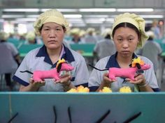 Chinese factory workers making toys in sweatshop factories.  Eye opening photo tour!