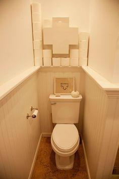 Rolig förvaring av toalettpapper.