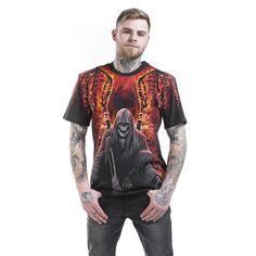 "#TShirt uomo ""Flaming Death"" del brand #Spiral."