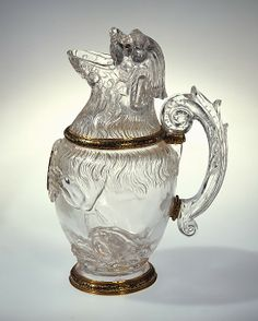 Ewer in the Shape of a Sitting Dog     Italian, probably Milan  (Italian, probably Milan, second half 16th century)