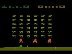 Playing Space Invaders for the Atari 2600 on the Stella Emulator Vintage Video Games, Retro Video Games, Vintage Games, Vintage Toys, Retro Games, Space Invaders, Atari Video Games, In Another Life, School Games