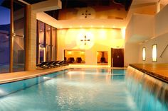 Pool in Hochsölden Style At Home, Hotel Edelweiss, Mansions, House Styles, Outdoor Decor, Home Decor, Decoration Home, Manor Houses, Room Decor