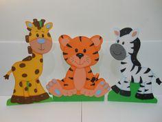 figuras en foami animalitos de la selva y buhitos