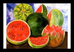 "Frida Kahlo, ""Viva La Vida (viva la vida)"", Circa 1954 - su última pintura, Vintage libro placa página, profesionalmente mate 5 x 7 pulgadas"