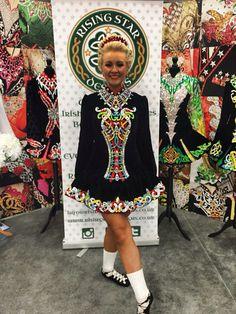Rising Star Irish Dance Solo Dress Costume Irish Step Dancing, Irish Dance, Just Dance, Dance Moms, Celtic Dance, Irish Girls, Irish Traditions, Dance Fashion, Embellished Dress