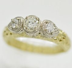 14K Gold Diamond Ring 1259