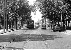 Bloor Street, west of Spadina Avenue Photographer: Alfred Pearson June 1933 Toronto Ontario Canada, Toronto City, Toronto Travel, Old Pictures, Old Photos, Valley Of Ten Peaks, Ask The Dust, Art Transportation, Trains