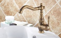215.00$  Watch here - http://aiee3.worlditems.win/all/product.php?id=32610880203 - Full European antique copper retro hole basin mixer faucet Art Basin Above the hot and cold faucet