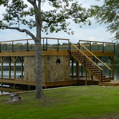 boat house, boat dock, sunbathing deck, and entertainment pavillion ...