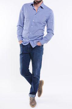 #Camicia sportiva slim fit da € 90,00 a € 54,00 ( #Saldi 40% e 50%)  ---------------------------------------------------- #AngeloNardelli #sale #MadeinItaly #sport #shirt #style #ecommerce #shoponline #storeonline #estore #fashion #style #menswear #moda #uomo #man