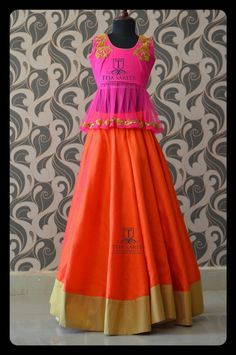 Kids Indian Wear, Kids Ethnic Wear, Lehenga Crop Top, Anarkali Lehenga, Indian Long Frocks, Indian Wedding Gowns, Lehenga Collection, Traditional Outfits, Indian Outfits