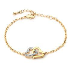 Dual Tone Match Bracelet with Swarovski® Crystals