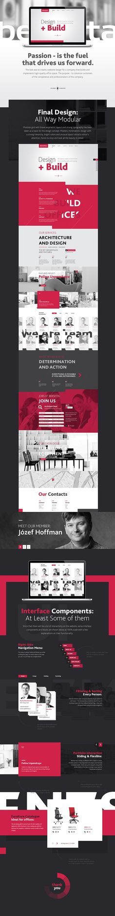 Bekshta Corporate Website - good use of monotone, interesting typography that works in a digital space