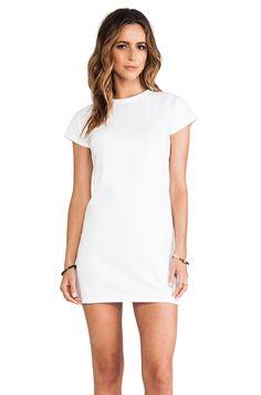 Elliott Label Baseball Mini Dress in White