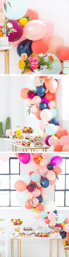 The perfect floral Spring Bridal Shower we hosted in the Sugar & Cloth studio by… - Party Ideas Diy Party Decorations, Bridal Shower Decorations, Balloon Decorations, Graduation Decorations, Mesas Para Baby Shower, Baby Shower Table, Shower Bebe, Spring Party, Summer Parties