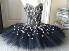 Black tutu with white and gold lace by Margaret Shore Tutu Ballet, Ballet Wear, Ballet Dancers, Ballerinas, Ballet Costumes, Dance Costumes, Dance Outfits, Dance Dresses, Ballet Russe