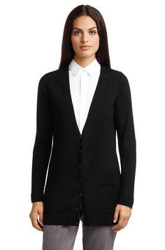 BOSS Vest 'F5095' van scheerwol - Zwart