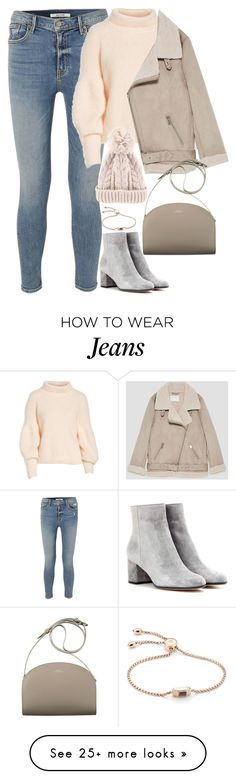 """Unbenannt #2422"" by luckylynn-cdii on Polyvore featuring GRLFRND, Gianvito Rossi, Lewit, Jakke and Monica Vinader"