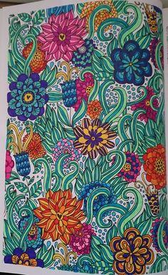 Ingekleurd met stabilo 68' uit; Het kleurboek voor volwassenen: Vrolijke patronen