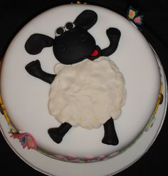 Shaun The Sheep Decorated Cake Topper By ArtCreationsbyLK On Etsy - Sheep cakes birthday