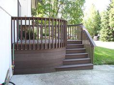 front porch decks   Deck design ideas trex cedar hardwood Alaskan0116   Flickr - Photo ...
