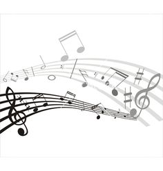 Music note background on VectorStock