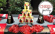 Cheer party decorations #cheer #cheerleading #party #birthday