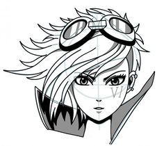 How to draw manga: Vi Enforcer from League of Legends step by step