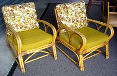 2 Vintage Rattan Chairs Excellent Condition 1960s from Furnish Me Vintage