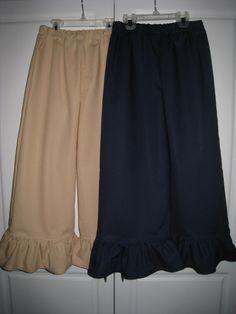 2 Pair Uniform NAVY and KHAKI Ruffle Pants by SweetSnugglebugs, $25.00