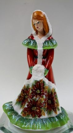 Fenton Bridesmaid Milk Glass Satin Red Poinsettias Pine Cones OOAK Freeusaship | eBay