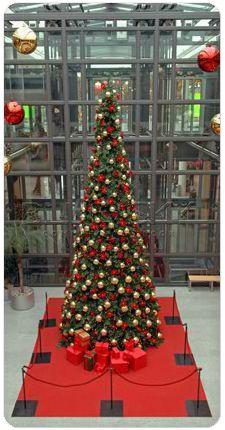 shopping mall giant tree ornamentation Christmas Trees, Merry Christmas, Xmas, Commercial Christmas Decorations, Mixed Use Development, Giant Tree, Shopping Mall, Jewel, Ornaments